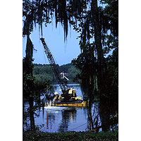 Image Gallery Photo Pipe_barge_in_Louisiana_Swamp.jpg